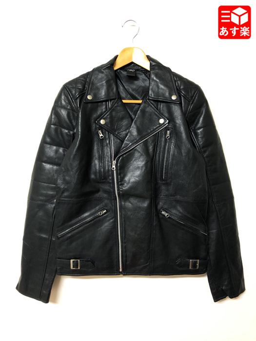 ダブルライダース レザージャケット 長袖 サイズ:Men's XS位 ブラック【新品】 新品 mellow 【あす楽対応】【古着 mellow市場店】