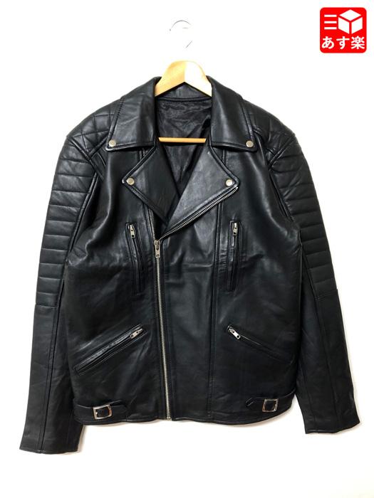 ダブルライダース レザージャケット 長袖 サイズ:44 ブラック【新品】 新品 mellow 【あす楽対応】【古着 mellow市場店】