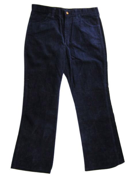 Deadstock Wrangler/ラングラー フレア コーデュロイパンツ 紺 Made in U.S.A【あす楽対応】【古着屋mellow店】:古着屋mellow店