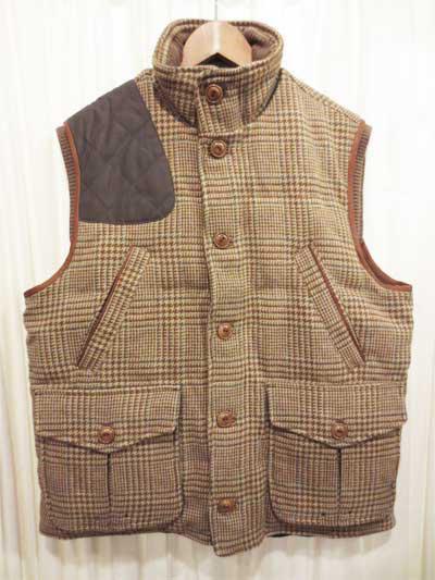 【サンプル品】POLO GOLF Ralph Lauren Tweed Vest ポロゴルフ ラルフローレン 中綿 ツイードベスト 表記(M)【新品】【古着屋mellow市場店】