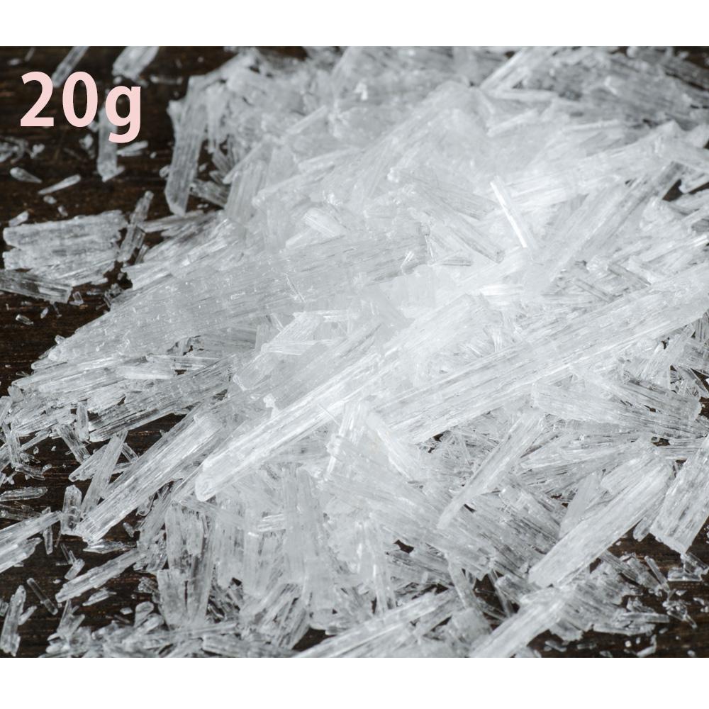 采取薄荷醇水晶20g(薄荷醇薄荷)从尝试L-薄荷醇薄荷抽出的天然的薄荷醇克里斯塔薄荷mentholcrystal手制的肥皂以及雾喷雾器入浴剂G对策!精油和并用OK(印度产)薄荷醇含量超过99.5%