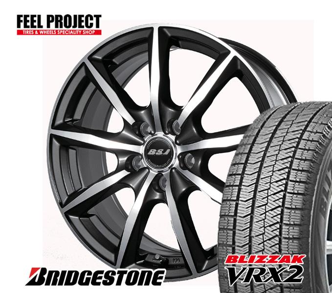 トラスト ご予約品 ブリヂストン VRX スタッドレス アルミ タイヤ交換可能 送料無料 VRX2 アルミホイール 4本セット 18インチ 225 45R18 45-18