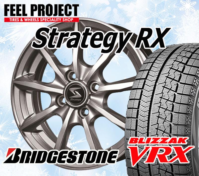 【2014年製】 NEWホイール STRATEGY-RX &ブリヂストン VRX 175/65R14 82Q 4本セット 175/65-14 スタッドレス BRIDGESTONE