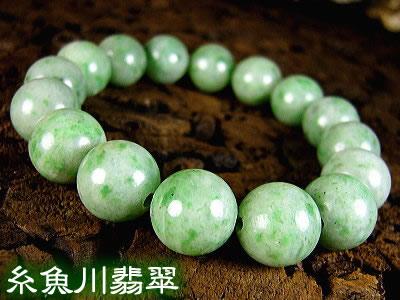 「39ショップ」糸魚川翡翠/13mmブレスレット/天然石パワーストーン【送料無料】