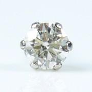 「39ショップ」片耳売り!ダイヤモンド計0.15ctピアス/pt900/芦屋ルチル正規品