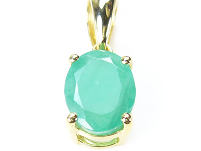 Super large 5 ct / natural gem Emerald / Queen / charm / Silver 925 gold  plated