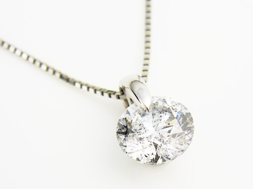 silver gold necklace round white diamond brilliant products