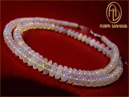 宝石オパール30ct/高品質エチオピア産/芦屋ダイヤモンド/宝石ジュエリーネックレス宝石保証書つき