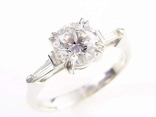 天然ダイヤモンド/1ctプラチナ900指輪/芦屋ダイヤモンド/宝石鑑定書付