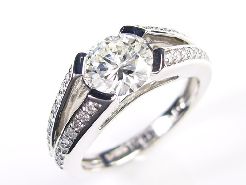 「39ショップ」天然ダイヤモンド/1.021ctプラチナ900指輪/芦屋ダイヤモンド宝石鑑定書付VS1の1カラット!Gカラー