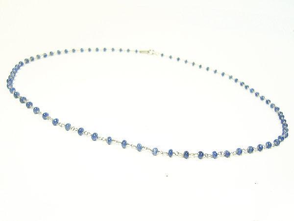 「39ショップ」天然宝石サファイア・ジュエリーネックレス/スターリングシルバー925/ネックレス