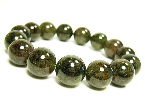 アクチノライト緑光石/天然石パワーストーン14mm/1点もの