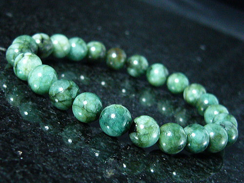 Emerald And Natural Gemstone Bracelets 7 Mm 8