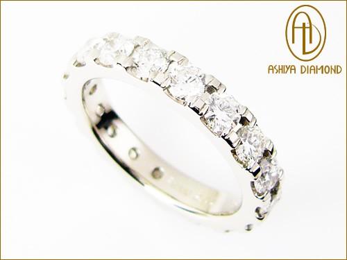 「39ショップ」ダイヤモンド・フルエタニティリング/2.0ctプラチナ900指輪/芦屋ダイヤモンド/極KIWAMI