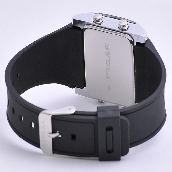 «出售» 硅列表带手表 LED 数字看 «中性» 休拉: 舒拉和跑步手表