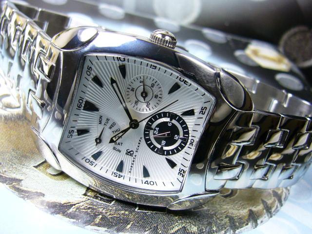 訳あり電池切れ!≪最後の1本≫イタリー腕時計[生産終了]未来型マルチファンクション/アルマーニ天才デザイナーROBERTA SCARPA[送料無料]