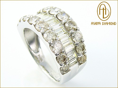 「39ショップ」天然ダイヤモンドリング/3.0ctプラチナ900指輪芦屋ダイヤモンド正規品