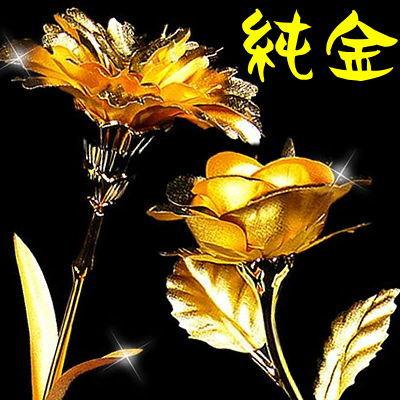 母の日に 純金のカーネーション 薔薇(バラ)の花純金証明書付きランキング1位(風水・置物部門)
