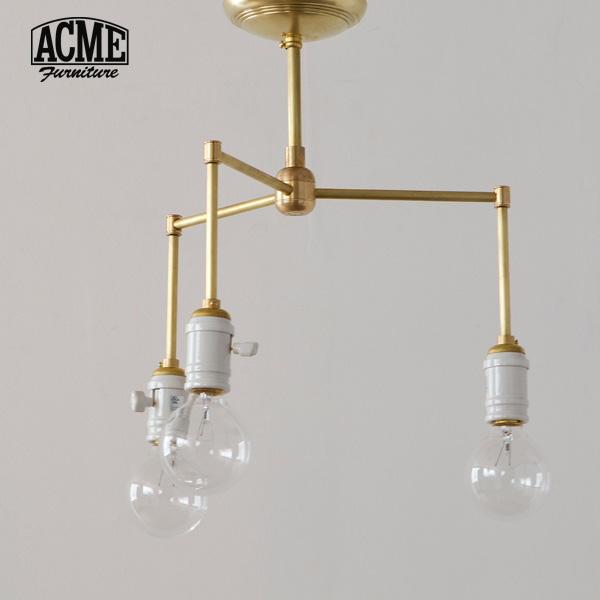 ACME Furniture(アクメファニチャー)SOLID BRASS LAMP 3ARM Porcelain(ソリッドブラスランプ3アームポーセリン)