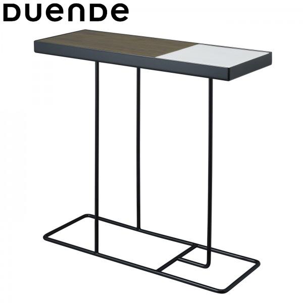 DUENDE(デュエンデ)Companion(コンパニオン)サイドテーブルブラックフレーム×ホワイトトレイ