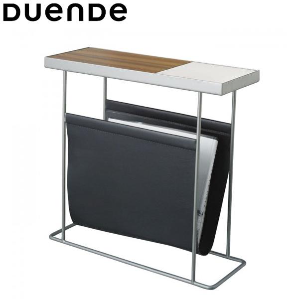 DUENDE(デュエンデ)Companion(コンパニオン)サイドテーブルシルバーフレーム×ホワイトトレイwithマガジンラック