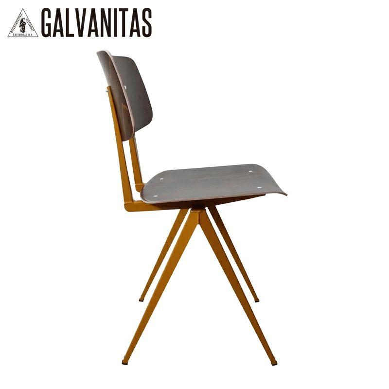 GALVANITAS(ガルファニタス)モデルS.16チェア・エボニー/オーカーブラウン