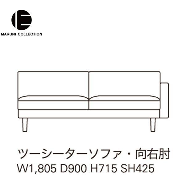 MARUNI COLLECTION(マルニコレクション)HIROSHIMA(ヒロシマ)ツーシーターソファ片肘