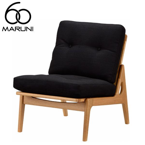 マルニ60オークフレームチェアアームレス・ナチュラル塗装バリ・ブラック