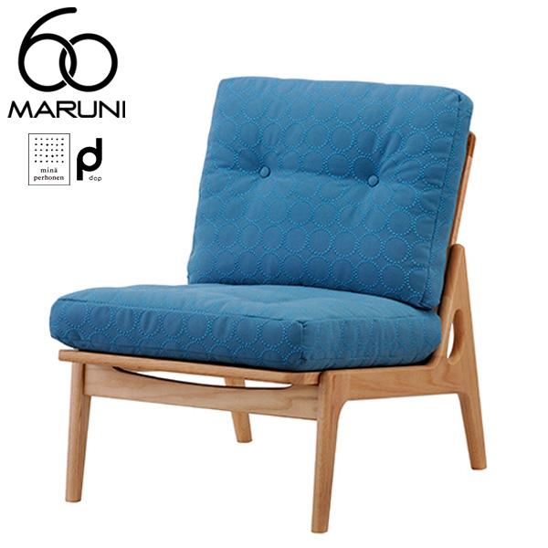 マルニ60オークフレームチェアアームレス・ナチュラル塗装dopタンバリン・ブルー