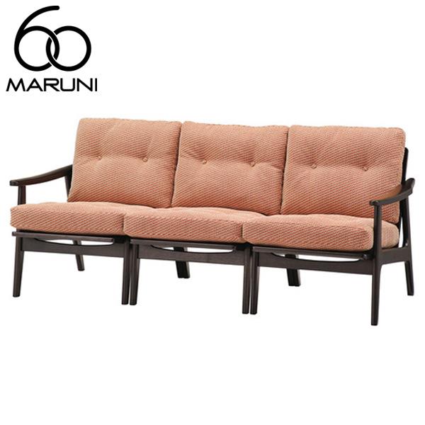 マルニ60オークフレームチェア3シーター・ブラック塗装シュプール・オレンジ