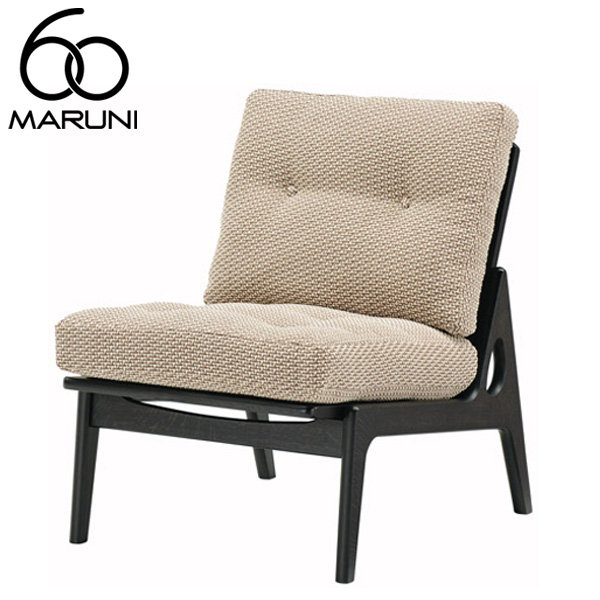 マルニ60オークフレームチェアアームレス・ブラック塗装シュプール・ベージュ
