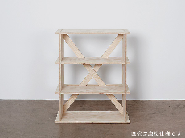 ctf(コンドットテンポラリーファニチャー)3段シェルフ シナ特注合板 / 無塗装