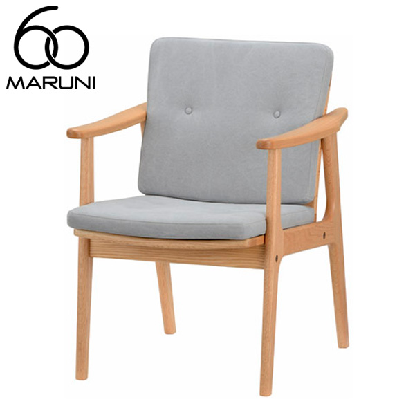 マルニ60オークフレームLDチェア帆布・ライトグレー