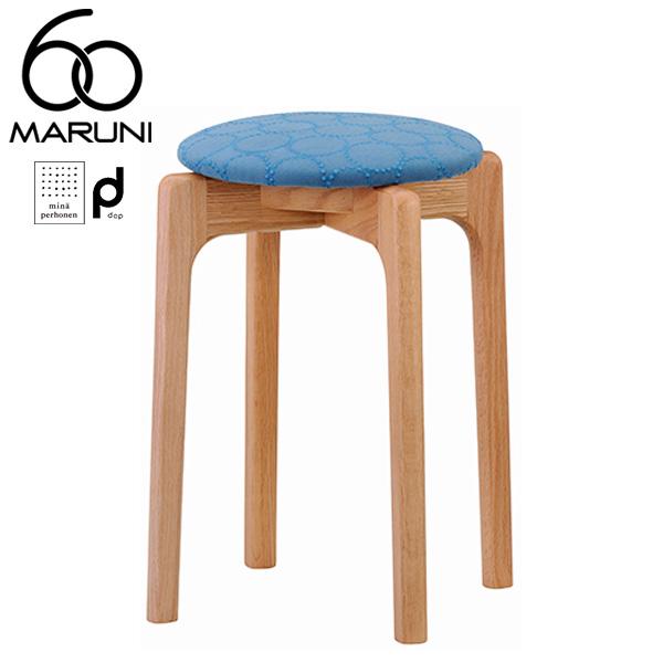 マルニ60オークフレームスタッキングスツールdopタンバリン・ブルー