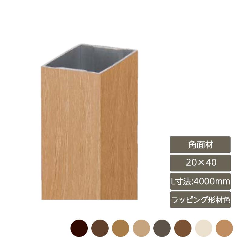 フラットな壁面の立体的なアクセントとなる角面材 デザイナーズパーツ 角面材 20×40 L寸法4000mm ラッピング形材色部材 人気ブレゼント おしゃれ LIXIL 庭 リクシル ガーデン [並行輸入品] スタイリッシュ DIY