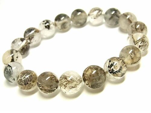 パワーストーン 天然石 デンドライト 模樹石 水晶ブレスレット 11~11.5mm 【Felistone】 DendriteB10