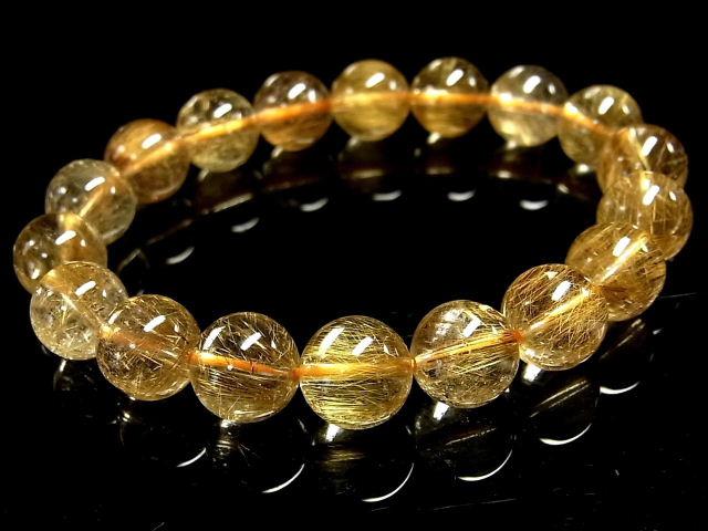 パワーストーン 天然石 ゴールドルチル ルチルクォーツ 金針水晶 ブレスレット 11mm 【Felistone】 GORB92