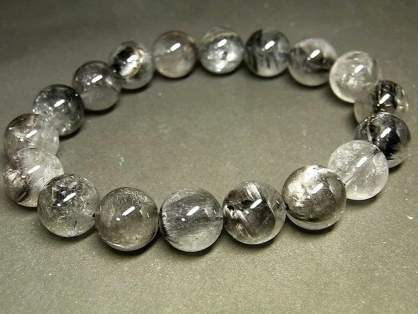 パワーストーン 天然石 プラチナルチル ルチルクォーツ 水晶 ブレスレット 11mm 【Felistone】 PTRB55