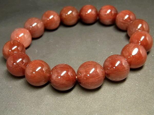 パワーストーン 天然石 大粒 キャツアイ レッドルチル ルチルクォーツ 赤針水晶 ブレスレット 13~13.5mm 【Felistone】【ポイント10倍・クーポン5~15%OFF】 RERB48