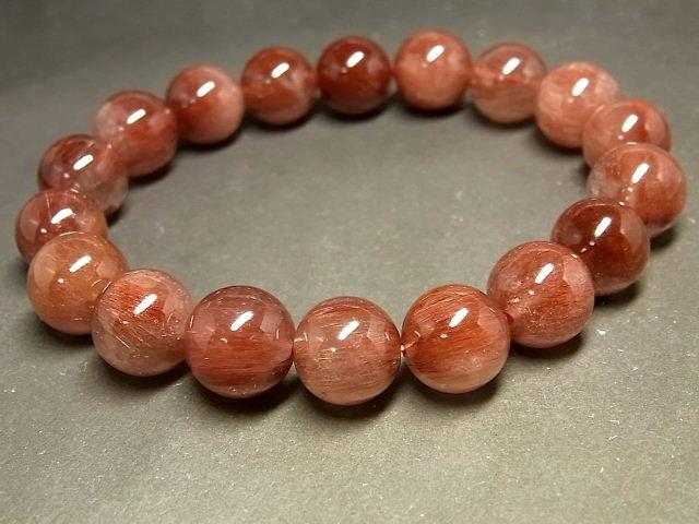 パワーストーン 天然石 レッドルチル ルチルクォーツ 赤針水晶 ブレスレット 11.5mm 【Felistone】 RERB51