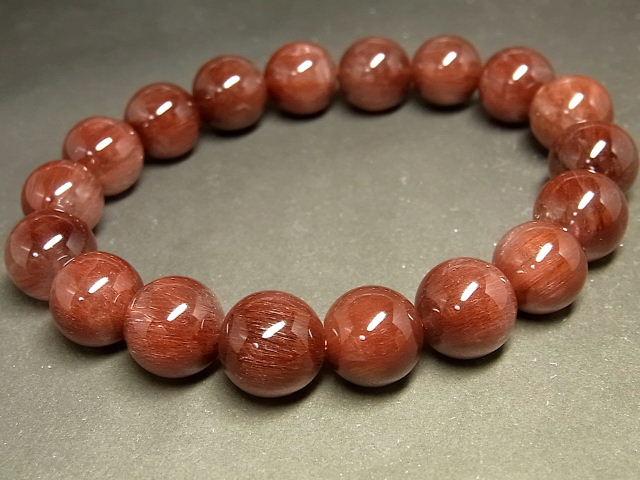 パワーストーン 天然石 レッドルチル ルチルクォーツ 赤針水晶 ブレスレット 12~13mm 【Felistone】 RERB53