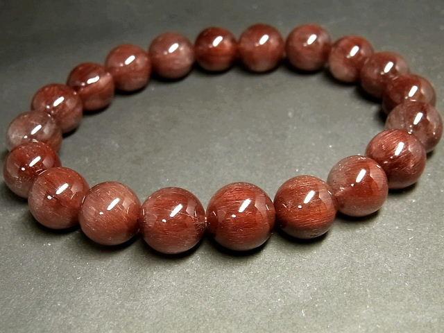 パワーストーン 天然石 レッドルチル ルチルクォーツ 赤針水晶 ブレスレット 11~11.5mm 【Felistone】 RERB56