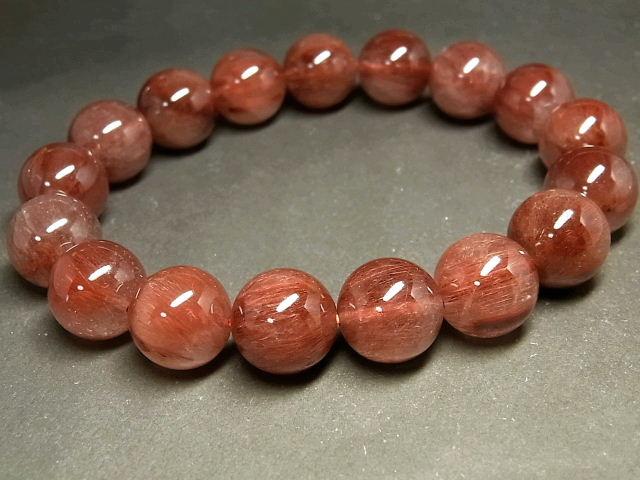 パワーストーン 天然石 大粒 レッドルチル ルチルクォーツ 赤針水晶 ブレスレット 13mm 【Felistone】 RERB59