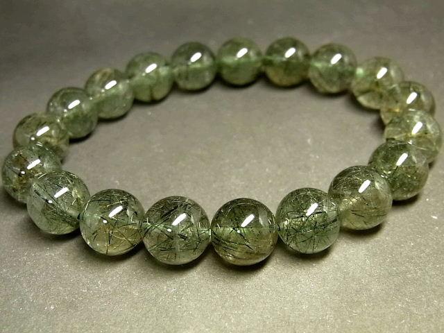 パワーストーン 天然石 グリーンルチル ルチルクォーツ 緑針水晶 ブレスレット 11mm 【Felistone】 GRRB32