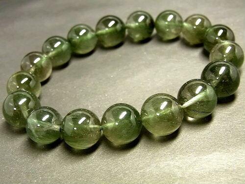 パワーストーン 天然石 グリーンルチル ルチルクォーツ 緑針水晶 ブレスレット 11~12mm 【Felistone】 GRRB16