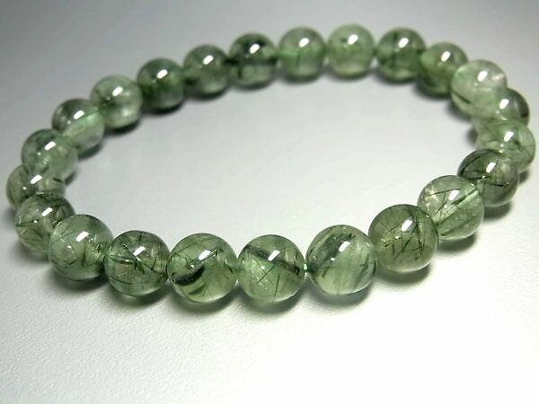 パワーストーン 天然石 グリーンルチル ルチルクォーツ 緑針水晶 ブレスレット 8~8.5mm 【Felistone】【ポイント10倍・クーポン5~15%OFF】 GRRB21