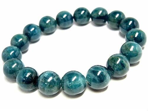 パワーストーン 天然石 ブレスレット ブルーアパタイト 燐灰石 ブレスレット 12~12.5mm 【Felistone】 ApatiteB09