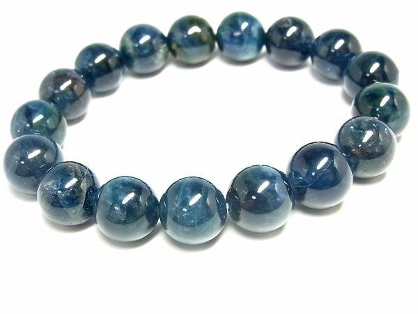 パワーストーン 天然石 ブレスレット ブルーアパタイト 燐灰石 ブレスレット 11.5mm 【Felistone】 ApatiteB12