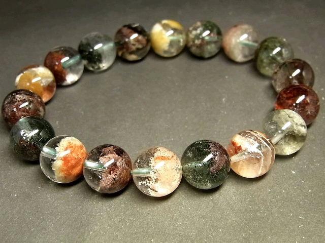 パワーストーン 天然石 ガーデンクォーツ 庭園水晶 ブレスレット 11mm 【Felistone】 GardenB77