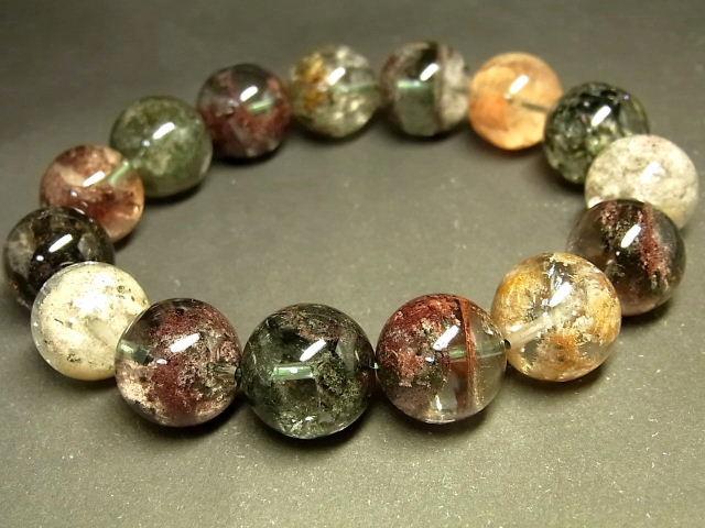 パワーストーン 天然石 大粒 ガーデンクォーツ 庭園水晶 ブレスレット 14~15mm 【Felistone】 GardenB79
